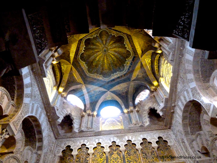 The divine gilded Mihrab in the Cordoba Mosque-Cathedral