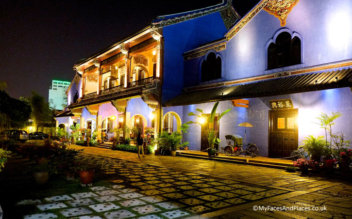 The Blue Mansion or Cheong Fatt Tze Mansion (http://myfacesandplaces.co.uk/blue-mansion-feng-shui/): winner of the year 2000 Most Excellent Project – UNESCO Asia-Pacific Awards for Cultural Heritage Conservation. The Mansion is a hotel and high-end Chinese restaurant (http://www.cheongfatttzemansion.com/) and there are daily tours.
