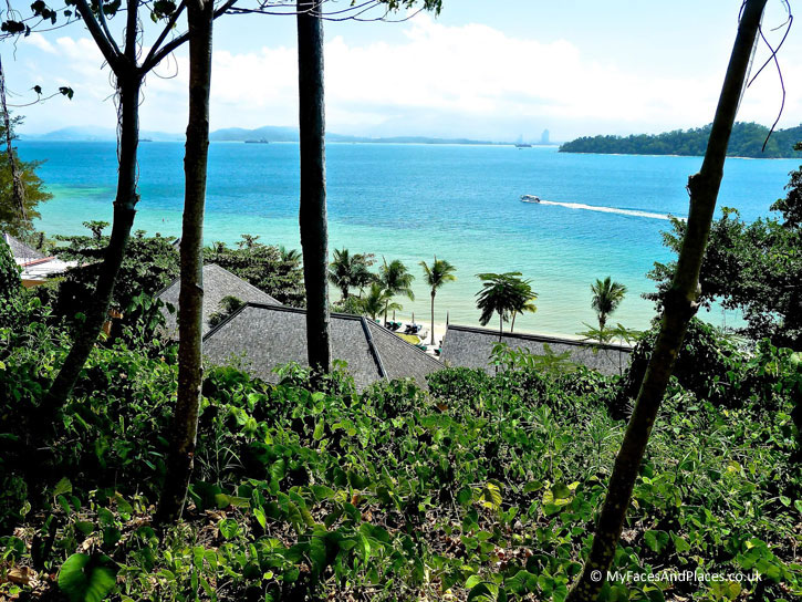 A view of Kota Kinabalu from Gaya Island Resort